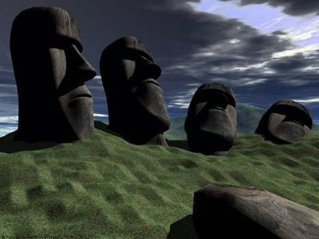 复活岛的位置 复活岛独自孤立在南太平洋中
